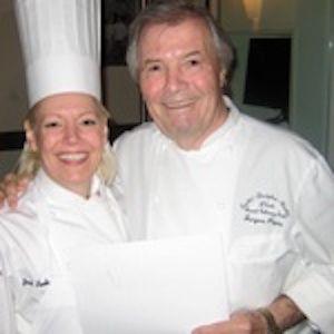 Chef Janet Crandall butchering