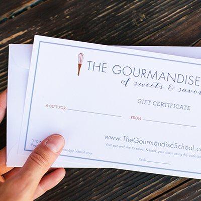 Gourmandise School Gift Certificates