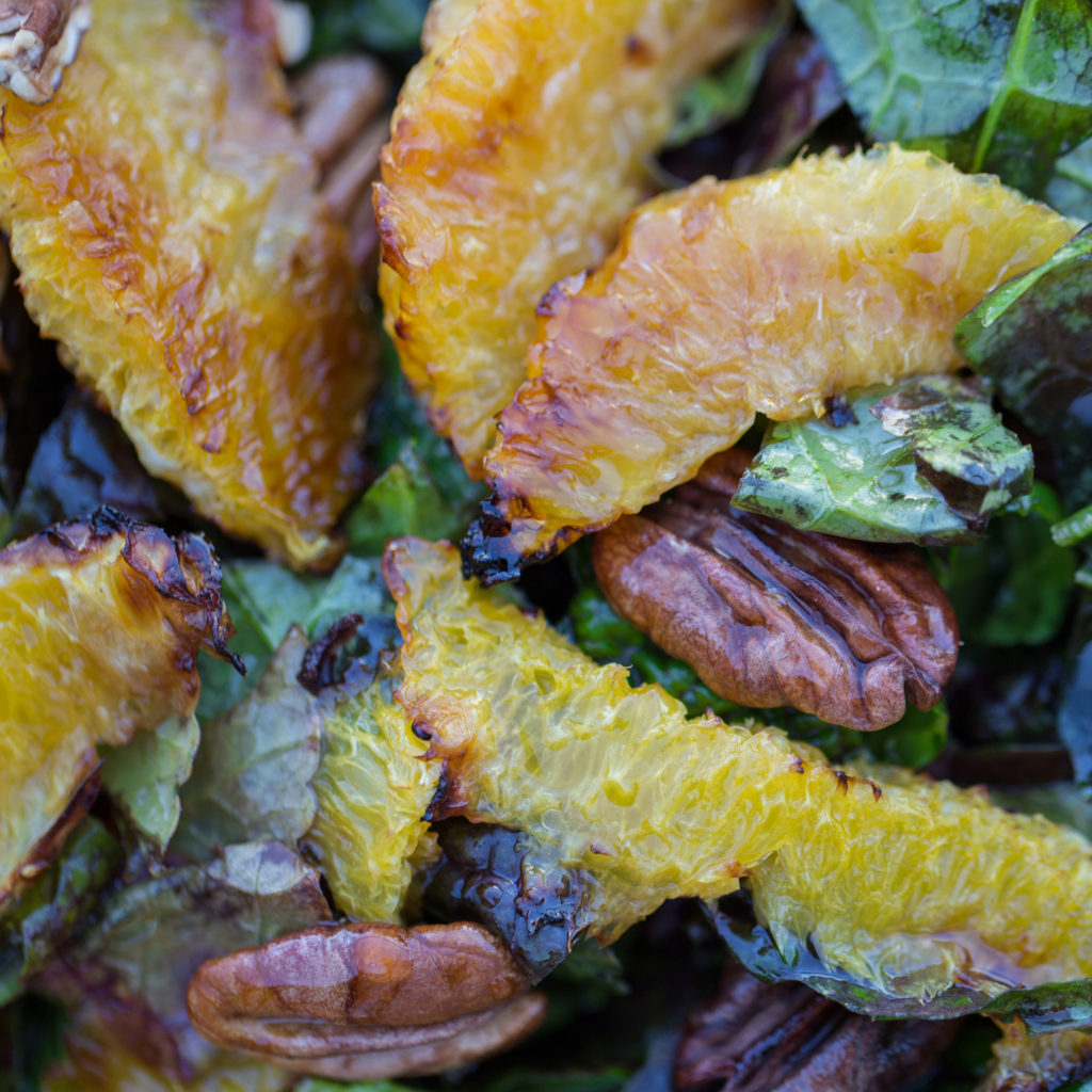 Mustard Greens Salad with Roasted Oranges and Pecans | The ...