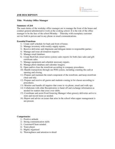 office resume