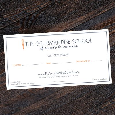 Gourmandise Gift Certificate