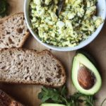 egg herb salad with bread