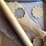 cutting out cookies in dough
