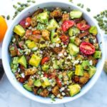 corn and tomato panzanella salad