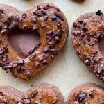 Double Chocolate Sandwich Heart Cookies